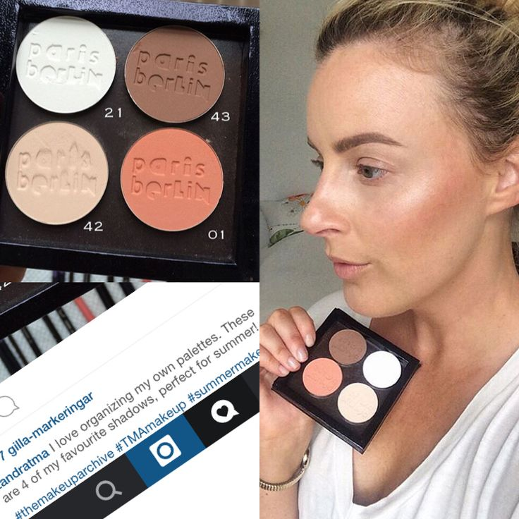 Zandra from The Makeup Archive used her favourite colours from Paris Berlin Pro Makeup!! www.parisberlin.se