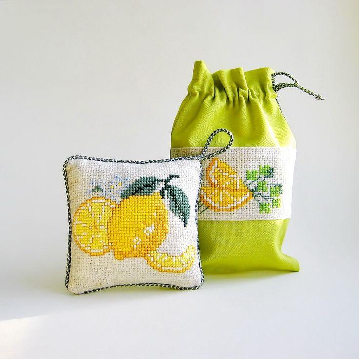 Eye catching Fresh yellow lemon #cross stitch #emroidery #yellow #lemon #вышивка #желтый #лимон