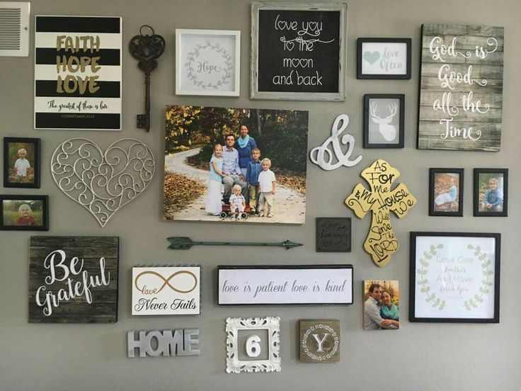 25 best ideas about Rustic Gallery Wall on PinterestFamily