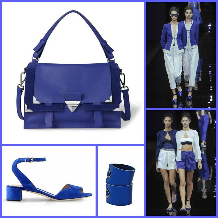 Classic Blue – inspires calm, confidence and harmony:. Look Emporio Armani and Orciani Eva bag. Bag available on stylenovo.com