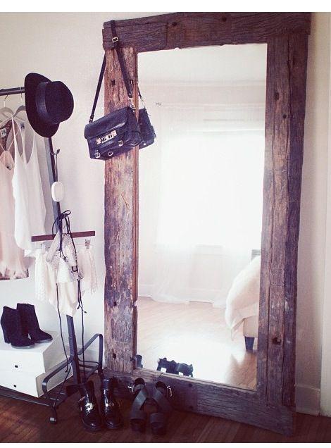 Barn Wood Mirror Rustic Home Decor: DIY & Repurposing