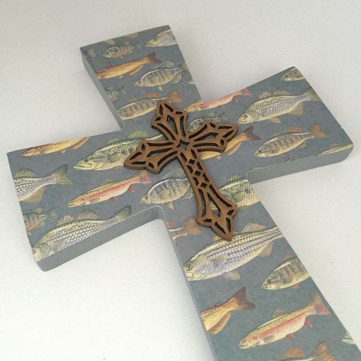 A personal favorite from my Etsy shop https://www.etsy.com/listing/465606846/fishing-nursery-decorative-cross-gift