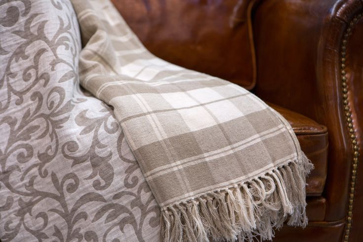 Linen bedspread in a different patterns.