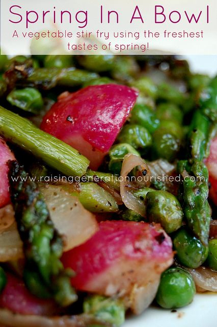 Spring In A Bowl :: A Vegetable Stir Fry Using The Freshest Tastes Of Spring! - Raising Generation Nourished