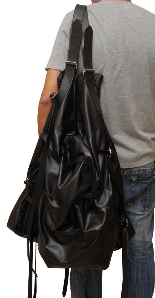 Joan Fabregas SS10 Maxi tote made of Black lambskin