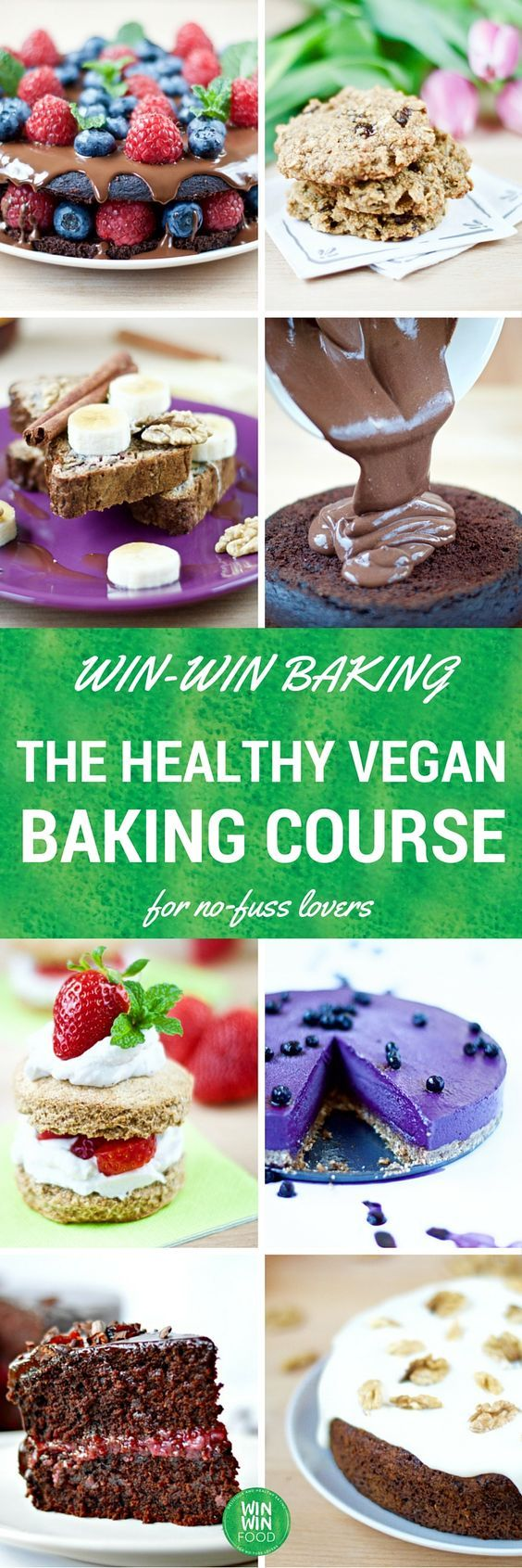 Master the art of creating delicious but guilt-free desserts with this exclusive online course! In just 7 weeks, I'll walk you through all aspects of #healthy #vegan baking made simple. Click on the pin for full details.
