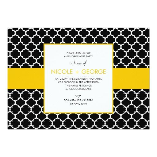 Chic Band General Party Invitation (Mustard)