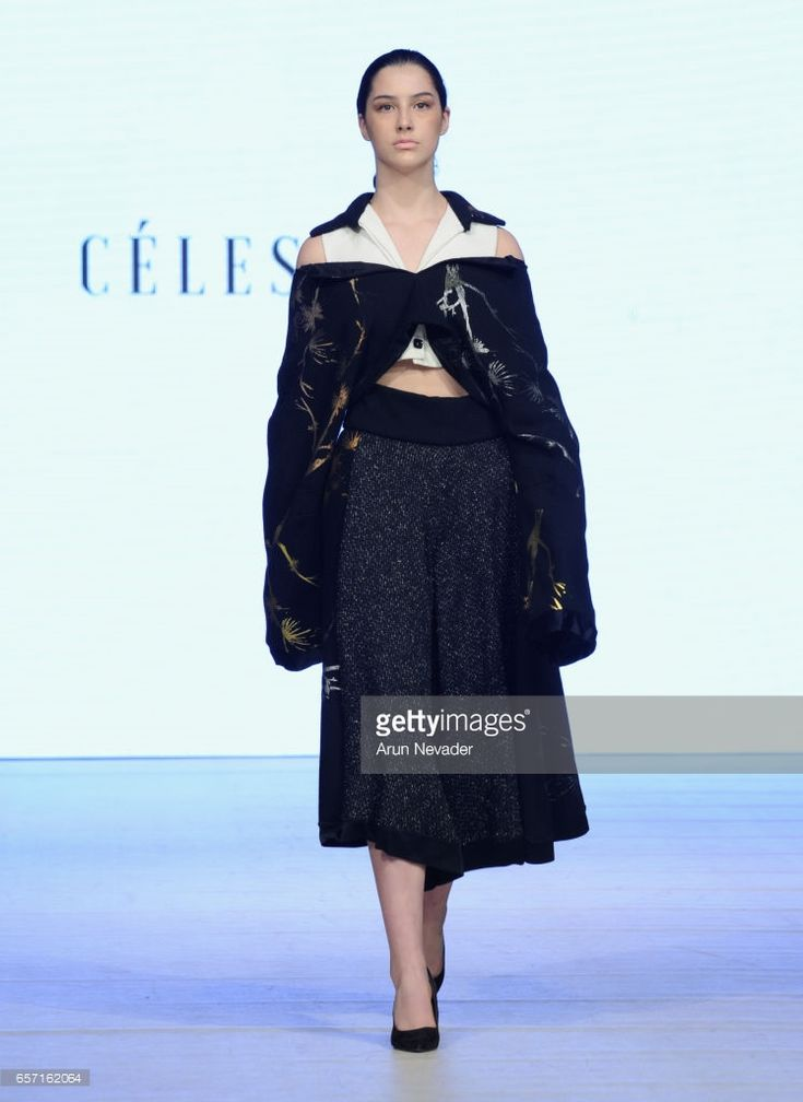 A model walks the runway wearing Celestine Studio at Vancouver Fashion Week Fall/Winter 2017 at Chinese Cultural Centre of Greater Vancouver on March 23, 2017 in Vancouver, Canada.
