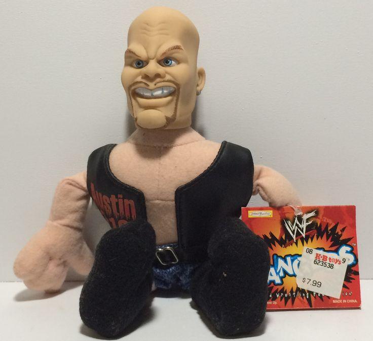 (TAS030069) - 1999 Jakks WWF Bangers Wrestling Figure - Steve Austin 3:16