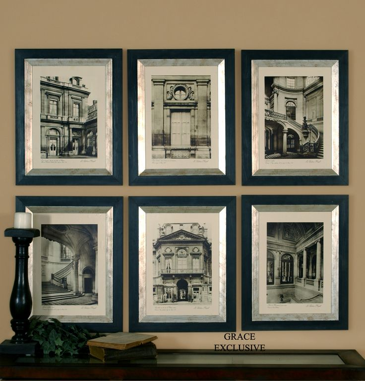 Black And White Framed Art Set Of 4