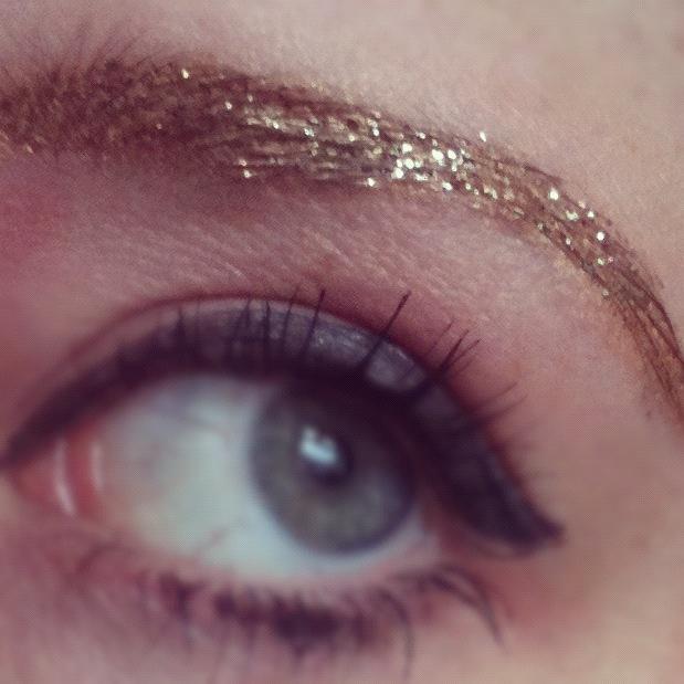 Gold glitter eyebrow :)  http://www.facebook.com/prettytastymakeup