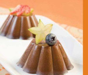 gelatinas de chocolate