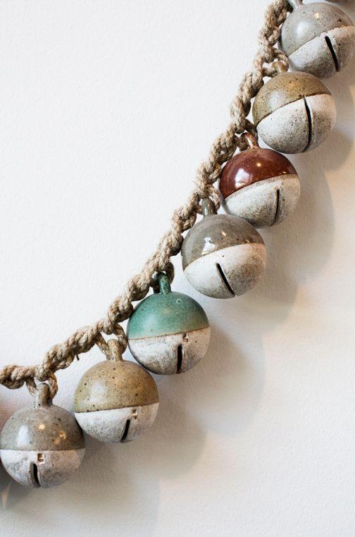 macramé + ceramic bells