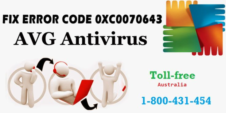 Call 1-800-431-454 to #AVG support #Australia which is available 24x7 nonstop with accurate solutions of AVG internet security Error 0xC0070643.