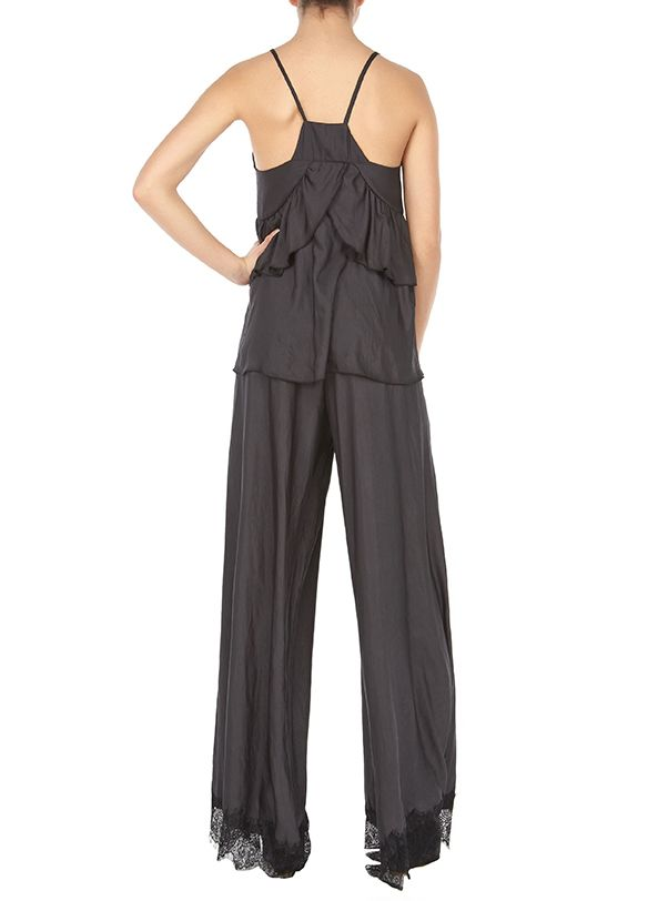 Grace bouse-Santa Maria wide leg pants #total black