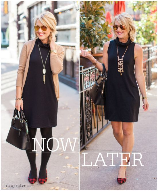 Hi Sugarplum   Little Black Dress Now & Later How to style your little black dress for both Winter and Summer months. Classic, stylish outfit