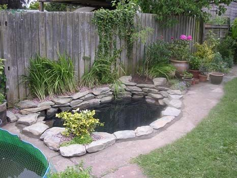 69 best pond ideas images on pinterest landscaping for Small garden with pond design