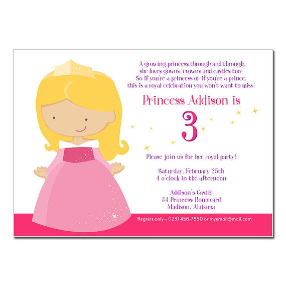 PRINTABLE Sleeping Beauty Party Invitation by rocketliv on Etsy, $15.00