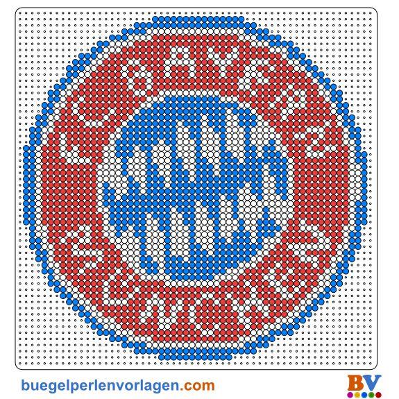 Bügelperlen Vorlage Bayer München                                                                                                                                                      Mehr