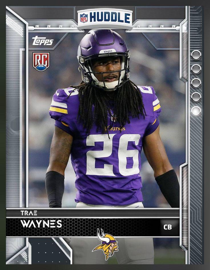 Trae Waynes (Rookie) Minnesota Vikings Base Card 2016 Topps HUDDLE