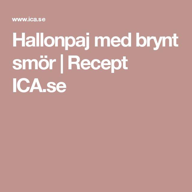 Hallonpaj med brynt smör | Recept ICA.se