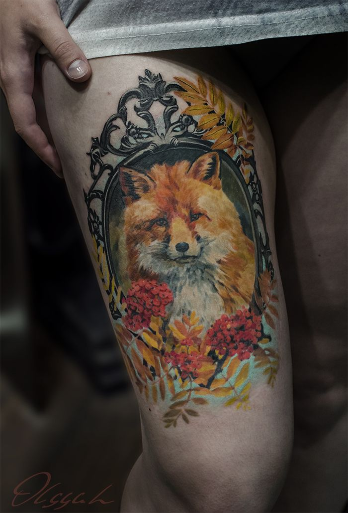 Fox in frame by Olggah on DeviantArt