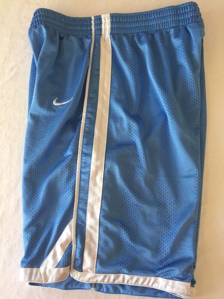 Youth Teen Large Nike Basketball Shorts Blue White Athletic Lined Inner Pocket #Nike #Basketball #SportsAthletic
