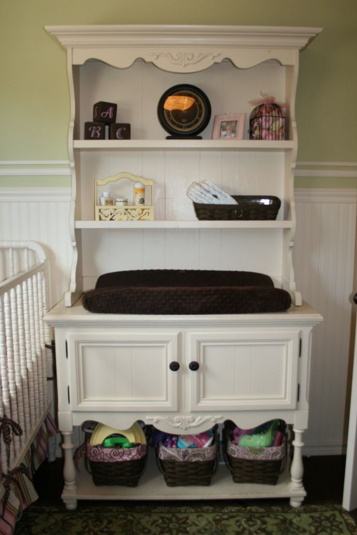 Delightful An Old Hutch Turned Into A Changing Table...my Favorite!