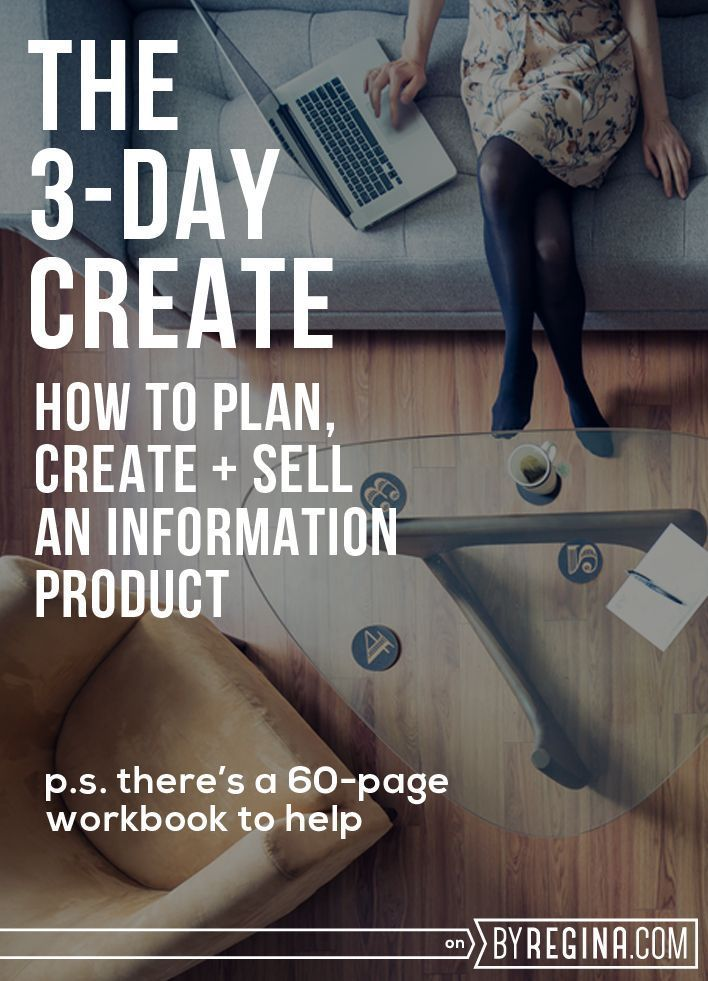 Guidance on planning, creating, and selling an eBook, eCourse, or other information product. #3DayCreate: The Workbook + Challenge