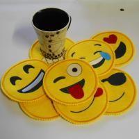 Emoji Coasters (5x7) | All Sew Crafty