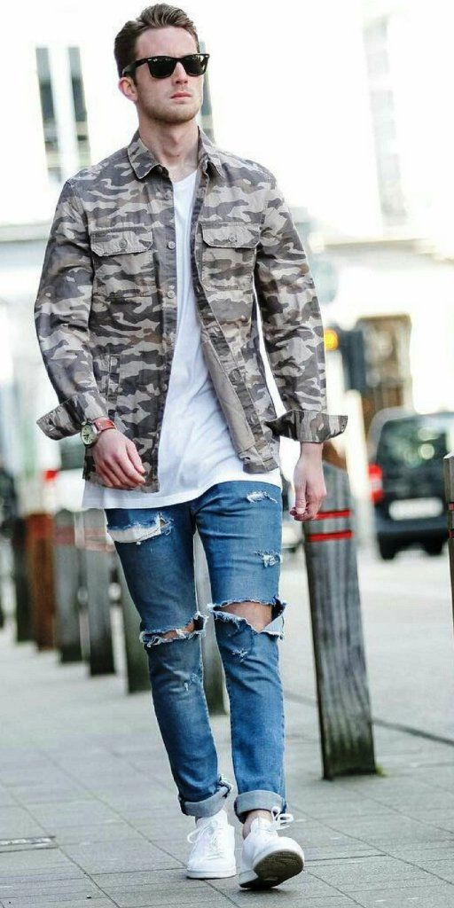 59aa634444d 25 Trendy Ripped Jeans Outfit Ideas For Men