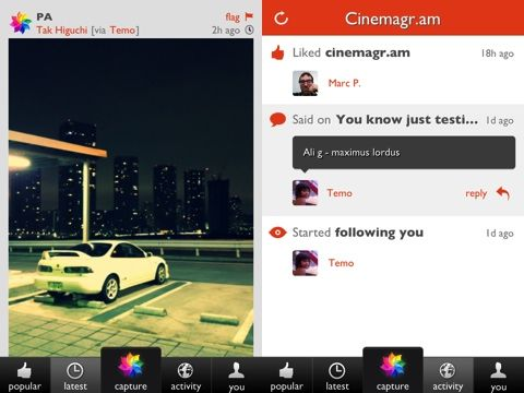 Cinemagram for iPhone is like Instagram with animated photography
