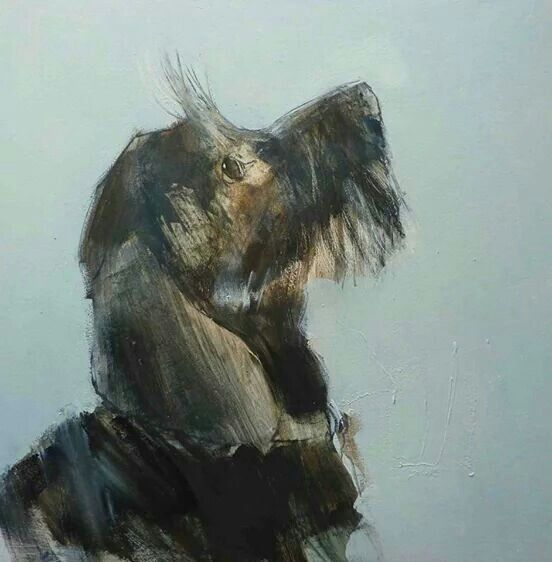 """""""Looking Up"""" by Tom Homewood, English artist involved in animal charities, b.1972"""