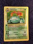 Venusaur First Edition Base Pokemon Card 1st Edition 15/102
