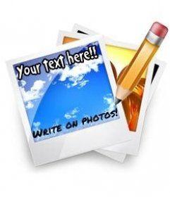 Escribir en fotos online. Agregar texto sobre fotos. - fotoefectos.com