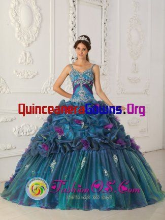 Peacock style quinceanera dress 1st choice