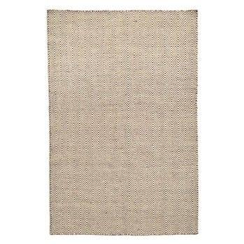Ręcznie tkany dywan Kilim Chevron White/Brown, 200x290 cm   Bonami