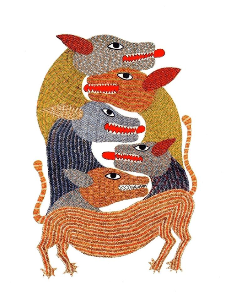 From 'Signature - Patterns in Gond Art', ed. Gita Wolf. (c) Tara Books