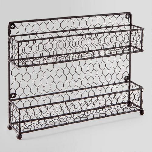 One of my favorite discoveries at WorldMarket.com: Two-Tier Wire Spice Rack (Good for displaying bottles of sand from different beaches you have traveled to).