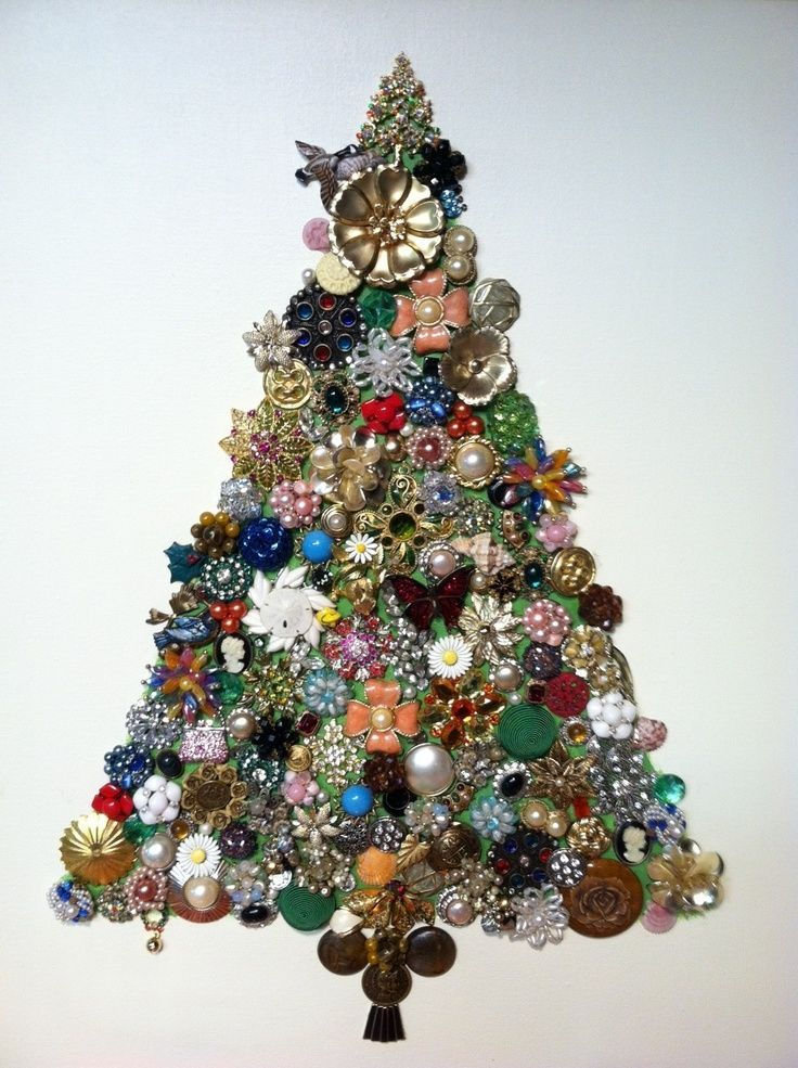 christmas decor trees made with jewelry tmvbijoux