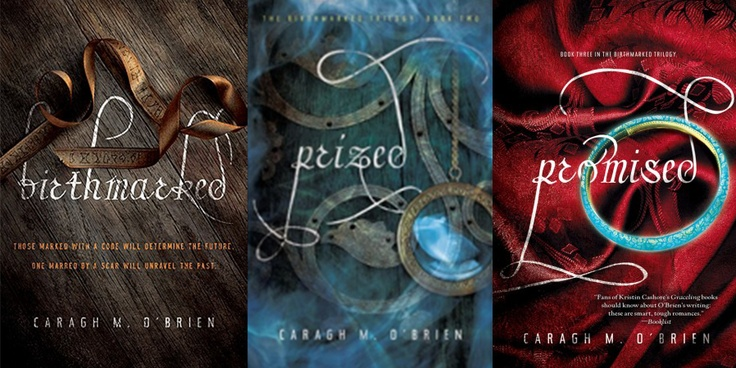 "Birthmarked Series by Caragh M. O Brian: Set in a dystopian world, Gaia is a teen midwife who doesn't agree with taking the second child born to a family and ""advancing"" it to the rich in the Enclave. Loved everything about this trilogy and highly recommended!"
