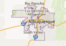 Map of albuquerque nm