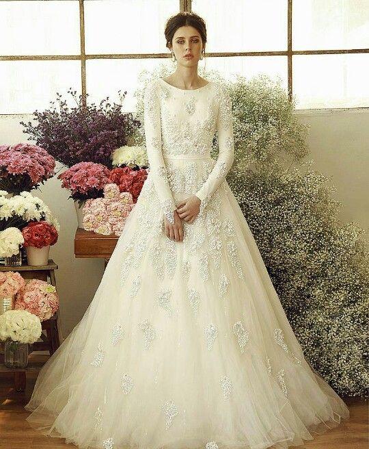 202 best wedding dresses tzniut images on pinterest for Modest wedding dress designers