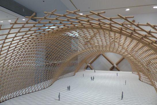 Maquette du pavillon japonais pour l'exposition universelle d'Hanovre en 2000