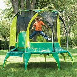 Safe trampoline (also saw a great idea for burying a trampoline!)