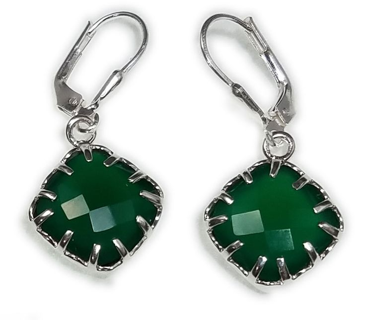 Green Onyx Earrings 925 Sterling Silver February Birthstone Valentines Day Fine Gemstone Jewelry SAELS01033 #silverjewelry #gemstonejewelry #opal #SterlingSilver #Earrings #AustralianOpal #handmadejewelry #jewelry #wholesalejewelry #usa #finejewelry# jewelryoftheday #jewelryforsale