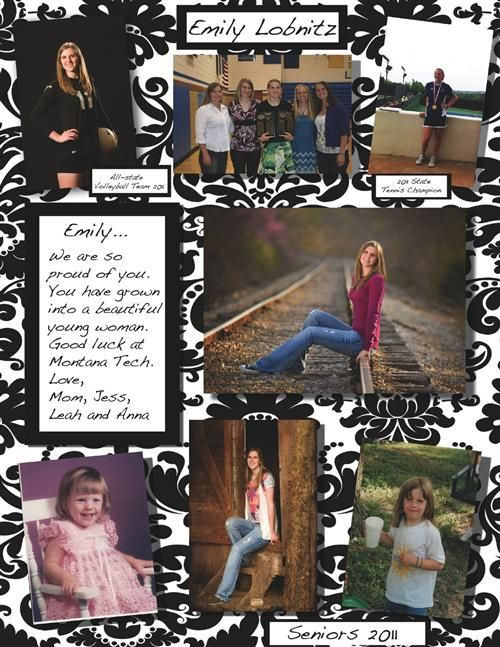 high school senior yearbook ad ideas | Emily's ad was ...