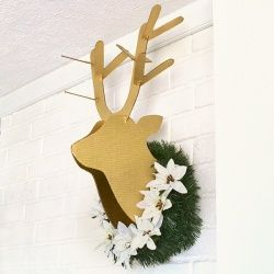 Get the free pattern to make your own cardboard deer head plus a tutorial to show you how.