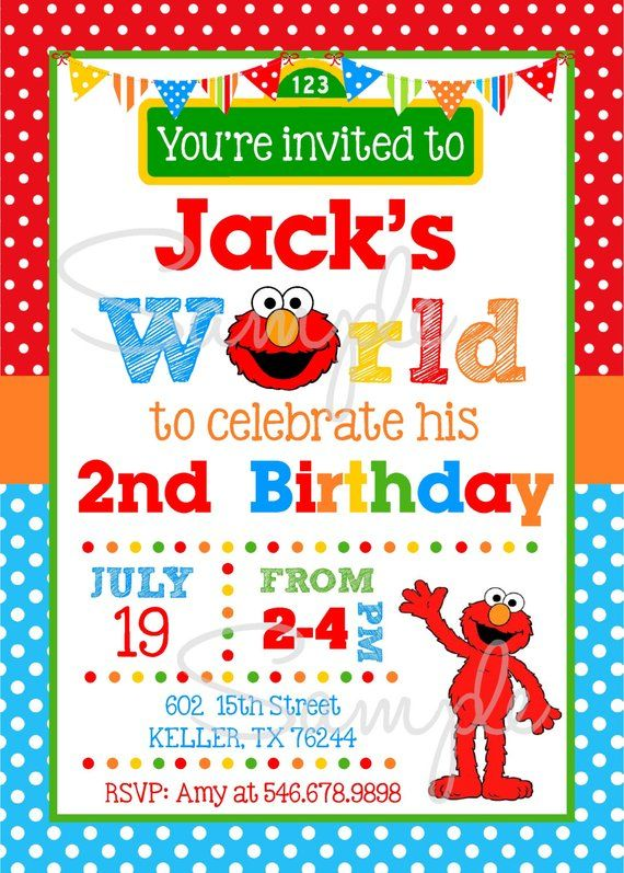 Elmo Invitations PRINTABLE Elmos
