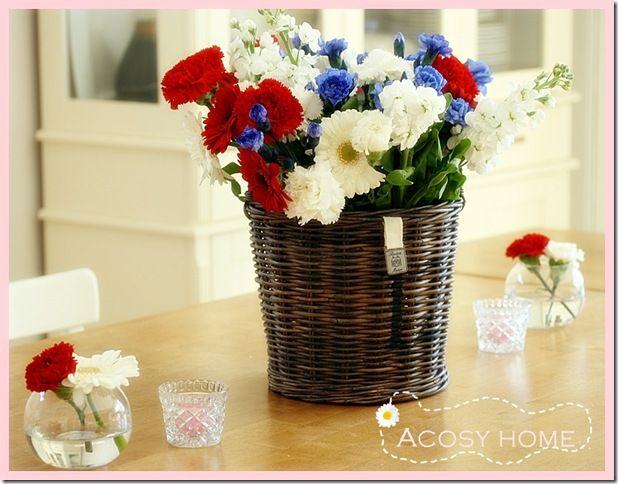 Kjøp/plukk bukett, så slipper du å ha rødt, hvitt og blått i lange tider etter at 17. mai er ferdig :)